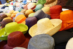 Hats on sale in Rome Stock Photography