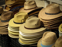 Hats for Sales. Hats for sale on the island of Cozumel royalty free stock photo