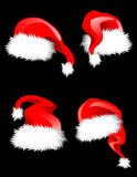 Hats of Santa Claus Royalty Free Stock Photos