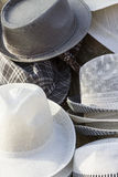 Hats. For seal in a market Royalty Free Stock Photos