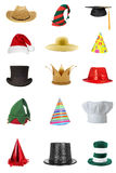 Hats. A series of isolated hats stock images