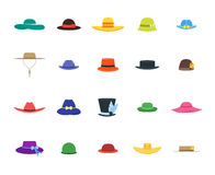 Hats Set Fashion for Men and Women. Vector Royalty Free Stock Image