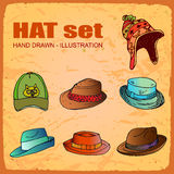Hats Set Royalty Free Stock Images