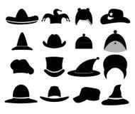 Hats. Set of hats icon illustrations vector illustration
