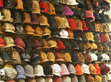 Hats in shop Stock Photos