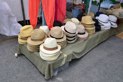 Hats Shop. In Ibiza, Spain Royalty Free Stock Image