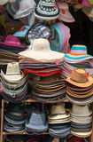 Hats on a shop Royalty Free Stock Photos