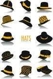 Hats silhouettes Royalty Free Stock Image