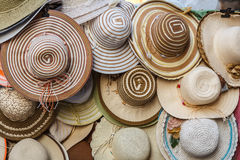 Hats sold on the streets of Trapani Royalty Free Stock Photography