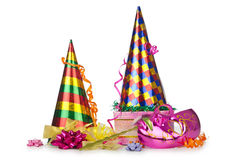Hats streamers and other stuff Royalty Free Stock Photography