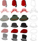 Hats Style Set Stock Photo