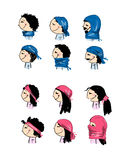 Hats transformer, ways of dressing for boys and girls Royalty Free Stock Photography