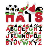 Hats uppercase alphabet a through z Stock Image