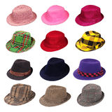 Hats of various type Royalty Free Stock Photo