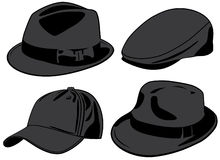 Hats. Vector illustration royalty free illustration