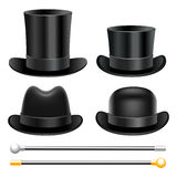 Hats and walking sticks Royalty Free Stock Photo