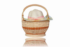 Hats weave and basket weave Royalty Free Stock Images