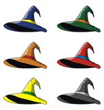 Hats. For witches. Vector format Stock Photos