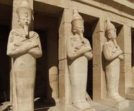 Hatschepsut sculptures made of stone Royalty Free Stock Images