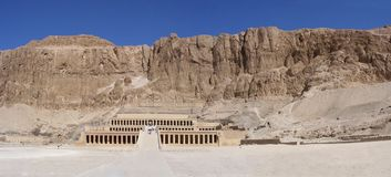 Hatschepsut-temple in the valley of the queens Stock Photography