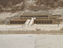 Hatsepsut. During the summer holidays in Egypt you can visit the Mortuary Temple of Queen Hatshepsut located close to the Valley of the Kings. It's's biggest stock photo
