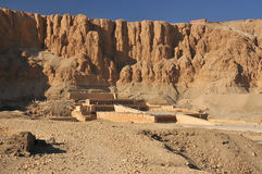 Hatshepshut's  Temple. The magnificent mortuary temple of Hatshepsut in the evening at Luxor in Egypt Stock Photos