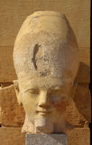 Hatshepsut head in temple near Luxor in Egypt Royalty Free Stock Image