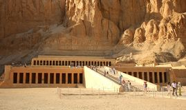 Hatshepsut's temple across a thousand years Royalty Free Stock Photography