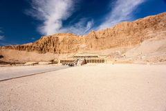 Hatshepsut's Temple in Luxor. The exterior of Queen Hatshepsut's temple in Luxor, Egypt royalty free stock image