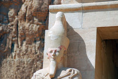 Hatshepsut statue. Hatshepsut or Hatchepsut; meaning Foremost of Noble Ladies was the fifth pharaoh of the eighteenth dynasty of Ancient Egypt. She is regarded Stock Images