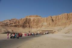 Hatshepsut tempel, Luxor, Egypten Royaltyfri Foto
