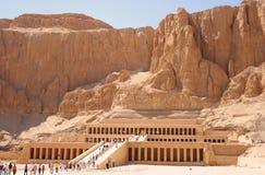 Hatshepsut temple. Mortuary Temple of Pharaoh Hatshepsut in Deir el-Bahari, Egypt Stock Image