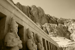 Hatshepsut temple in the desert Royalty Free Stock Photo