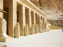 Hatshepsut Temple - detail Royalty Free Stock Photography