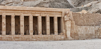 Hatshepsut temple detail Royalty Free Stock Images
