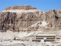Hatshepsut Temple, Egypt. Temple of the Queen Hatshepsut, Egypt royalty free stock photos