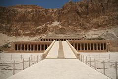 Hatshepsut temple at west bank of Luxor, Egpyt Royalty Free Stock Photo