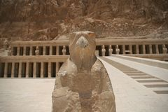 Hatshepsut temple at west bank of Luxor, Egpyt Stock Photo