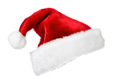 hatt isolerad santa white fotografering för bildbyråer