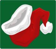 hatt santa Stock Illustrationer