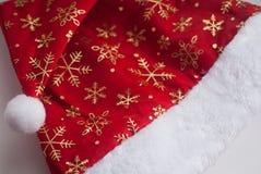 hatt Santa Claus som isoleras på vit bakgrund, Arkivbilder