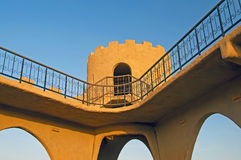 Hatta Fort. The old Hatta Fort at the Dubai Oman border stock images