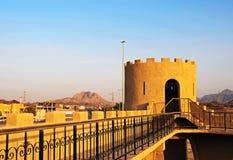 Hatta Fort. The old Hatta Fort at the Dubai Oman border stock image