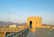 Hatta Fort. The old Hatta Fort at the Dubai Oman border stock photo