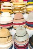 Hattar i ett hattlager i Peking Kina Royaltyfri Foto