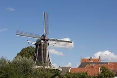 Hattem, Нидерланды: 30-ое августа 2012 - старая мельница стоковое фото