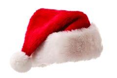 hatten isolerade santa white Arkivfoto