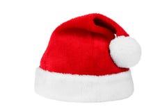 hatten isolerade white för s santa Arkivfoto