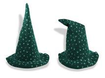 hatten som poserar trollkarl två Arkivfoto