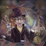 Hatter. Alices adventures in wonderland by Lewis Carroll.  Digital Art Stock Photo